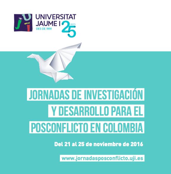 Diplomáticos, policía, asesores de las FARC, políticos y académicos debatirán en la UJI sobre el postconflicto en Colombia